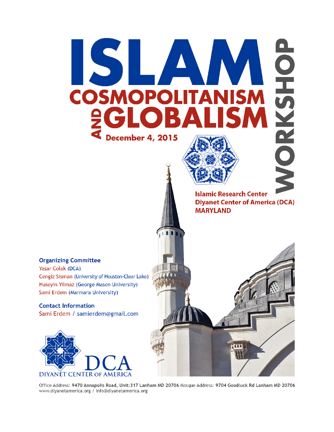 Workshop- Islam, Cosmopolitanism, and Globalism