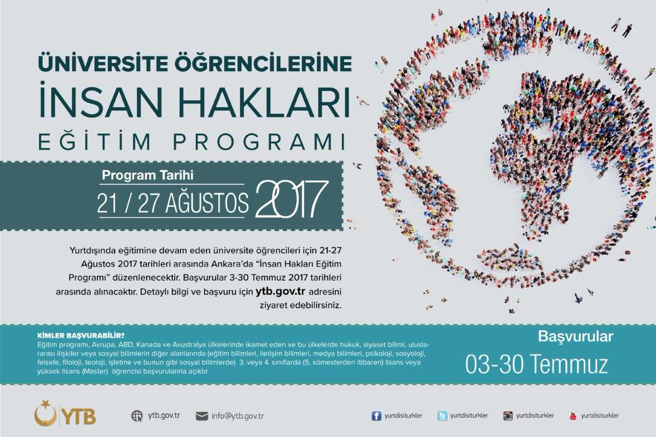 Human Rights Education Program for Turkish Students Studying Abroad- August 2017